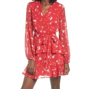 Love, fire red floral dress